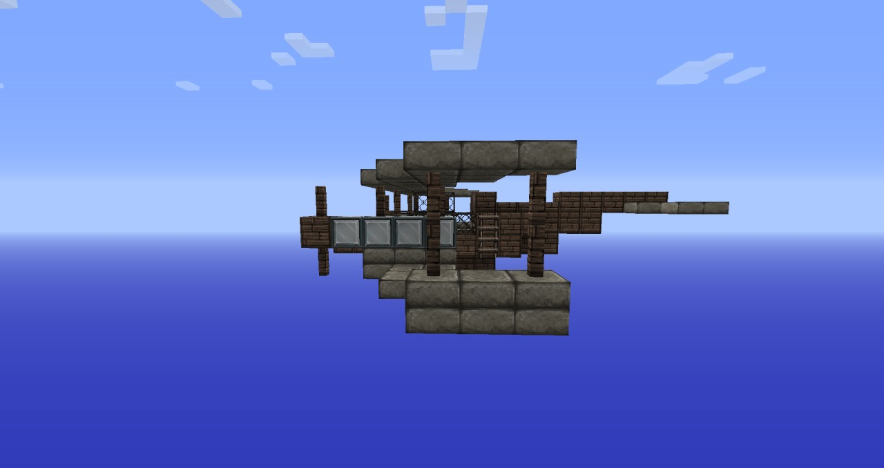 how to make a fighter plane in minecraft