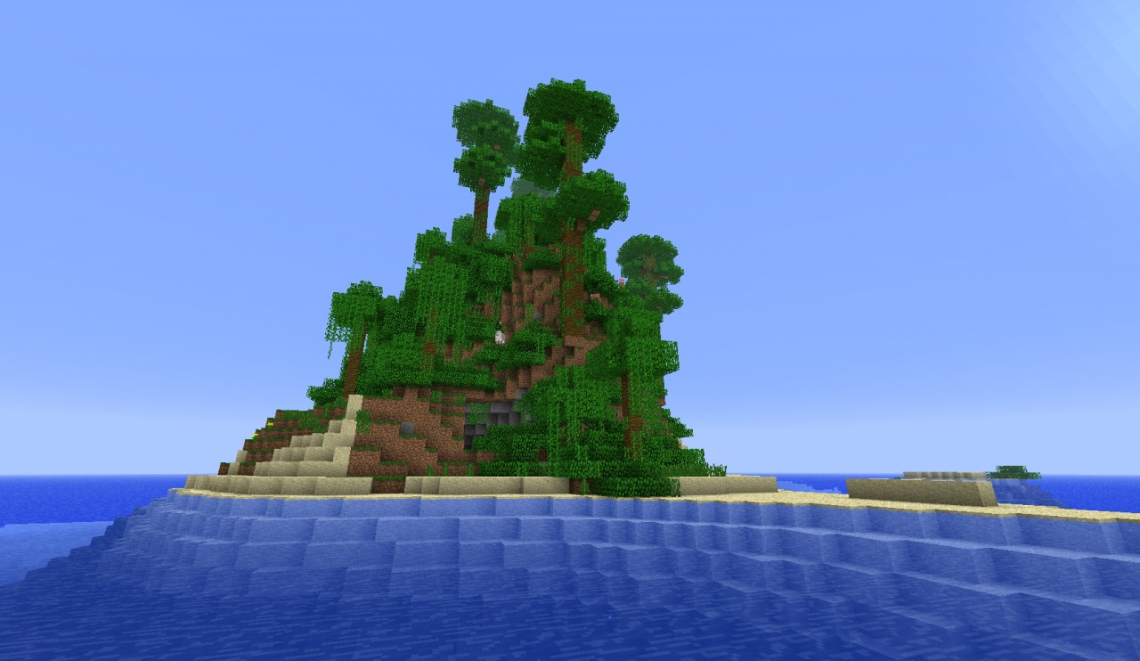 Minecraft Tropical Island: Tropical Survival Island Seed Minecraft Project