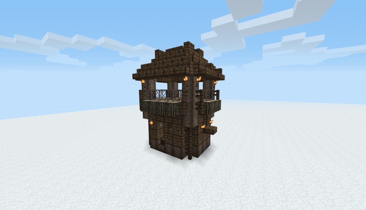 WoodenHouse2. Medieval Houses Bundle   with schematics  Minecraft Project