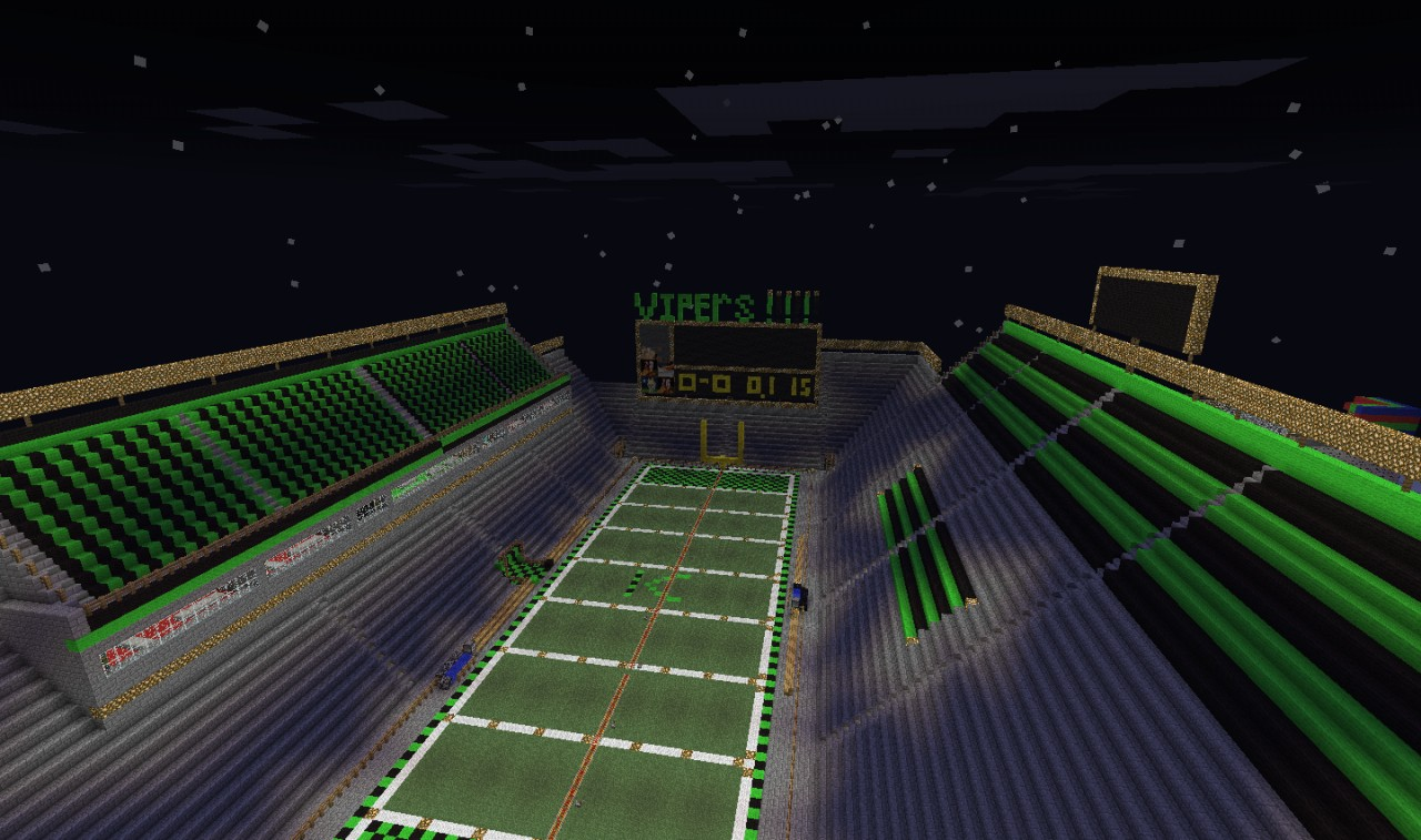 football and basketball stadium minecraft map