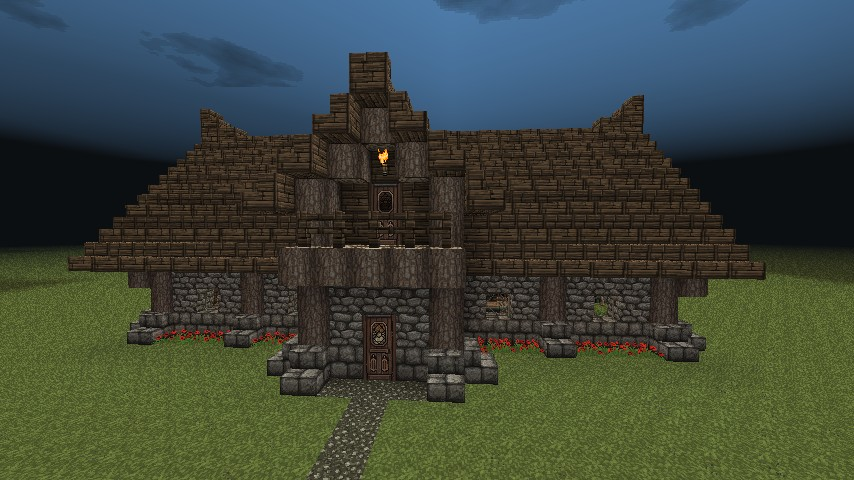 Cabin Front. Log Cabin Minecraft Project
