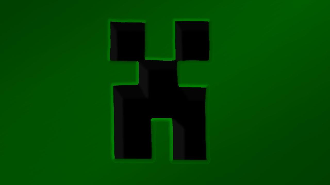 minecraft logo wallpaper creeper