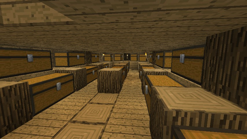 Cargo hold of the galleon