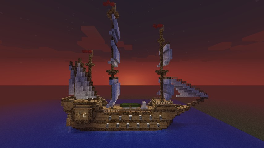 Side view of the galleon