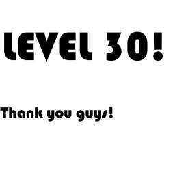 Level 30! Minecraft Blog
