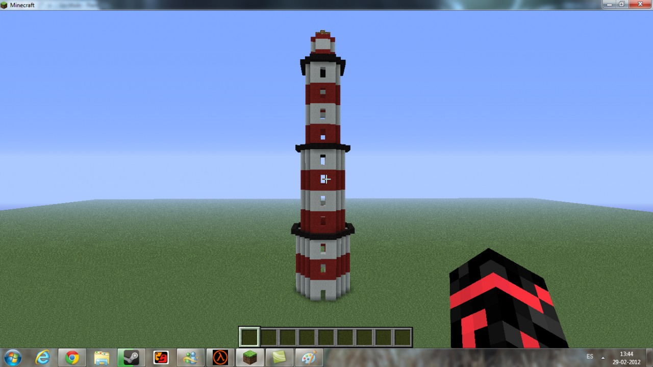 how to build a lightohous in minecraft