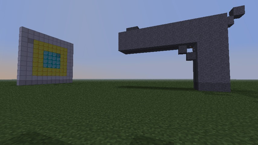 how to make a working gun in minecraft