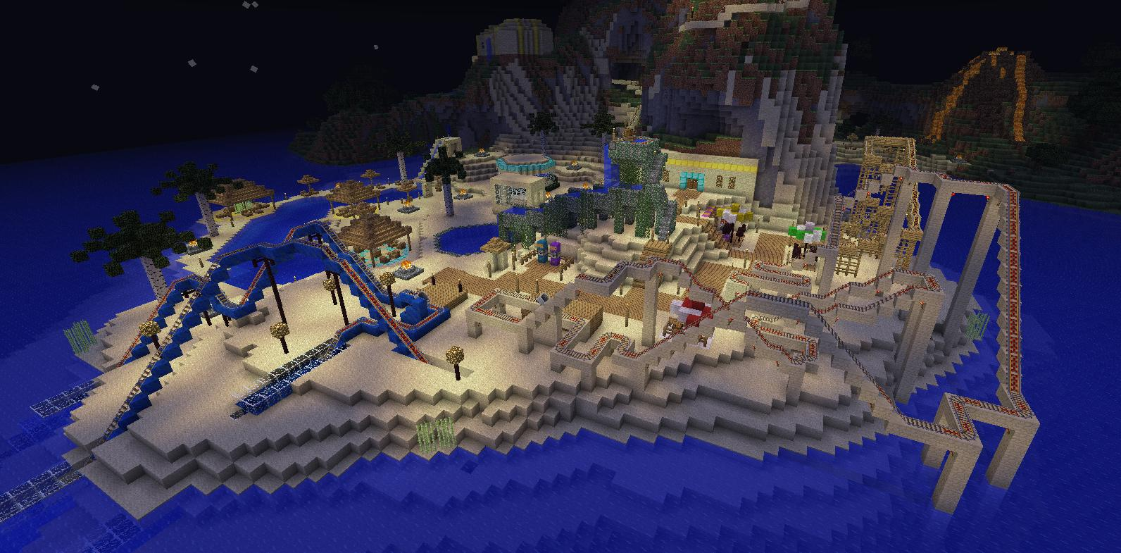how to build a spa in minecraft