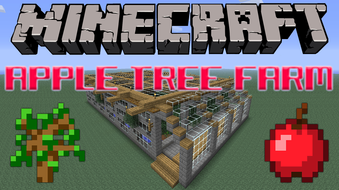 Apple tree farm tutorial minecraft project