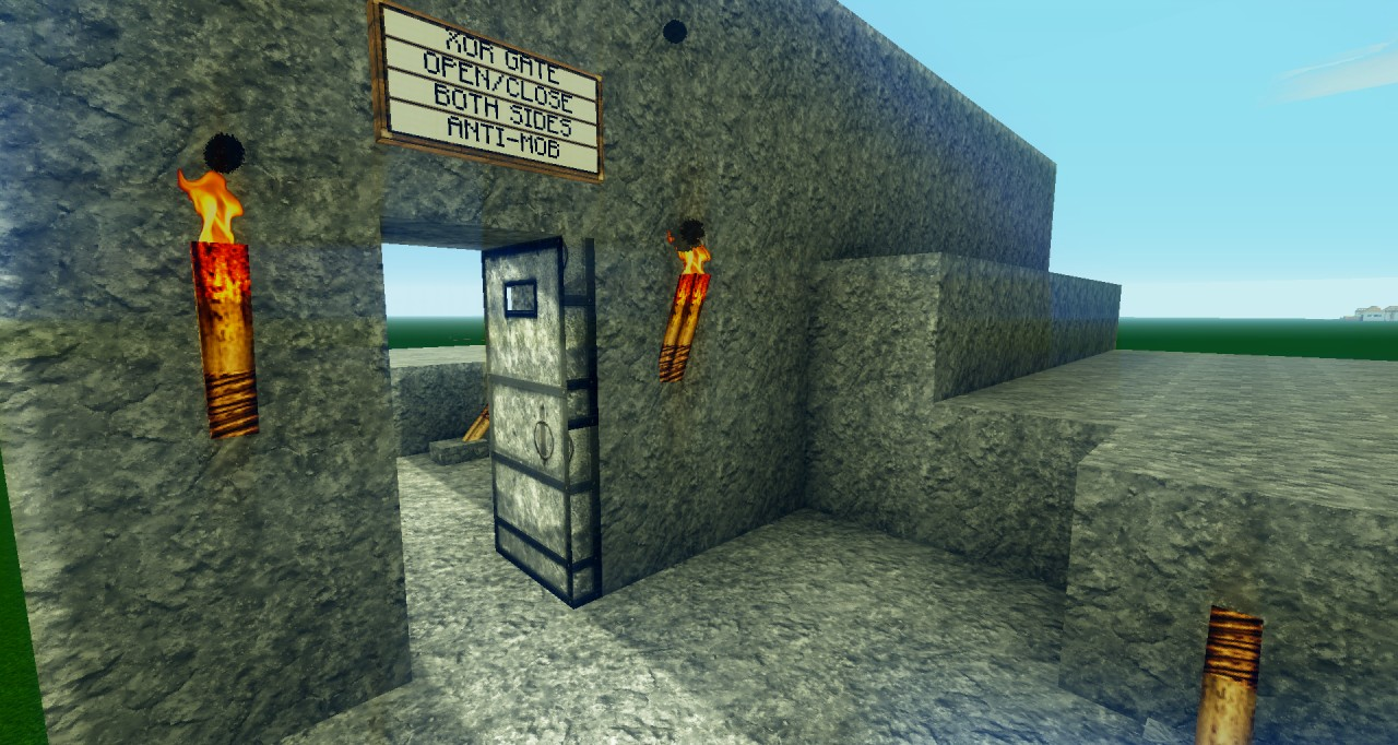 Xor Gate Open Close Both Sides Anti Mob Door System Minecraft Logic Diagram Of