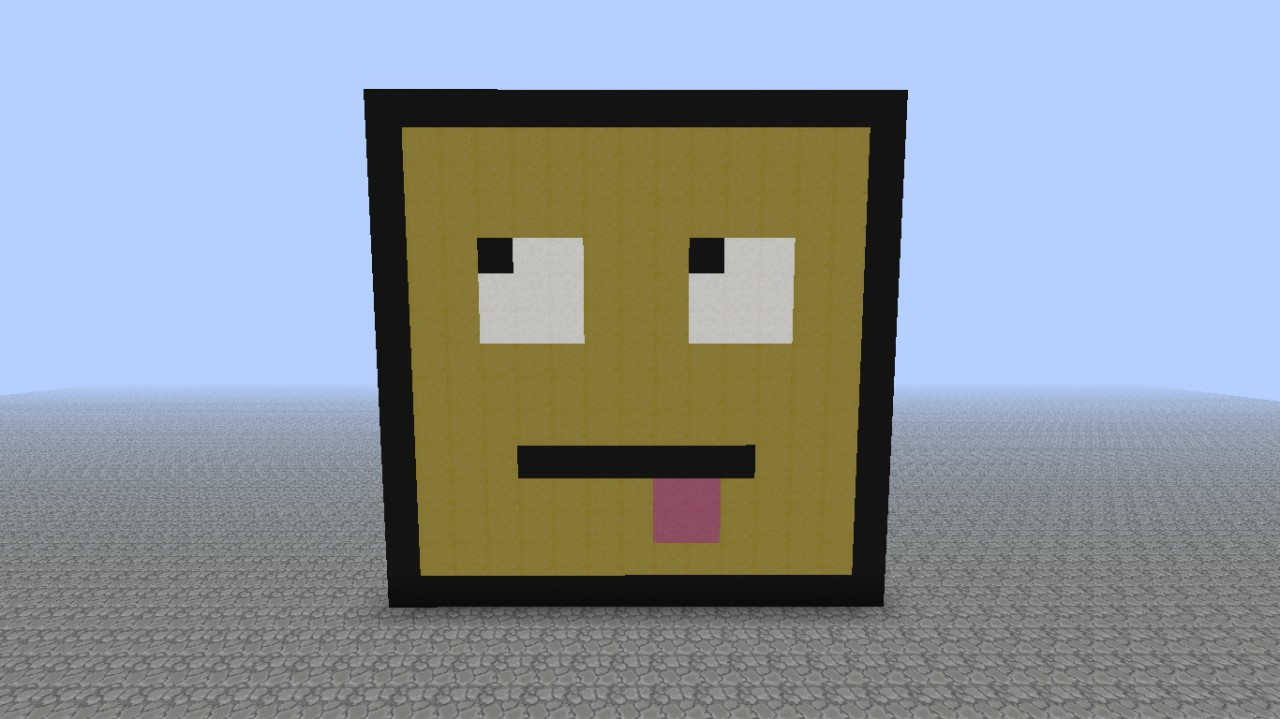 Pixel Art Smiley Minecraft Map