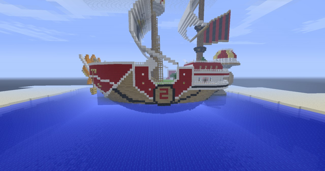 one piece   the thousand sunny minecraft project
