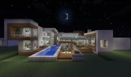 modern house series #1: furnished and playable Minecraft Map & Project