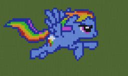 Rainbow Dash [Pixel Art] Kaunas Minecraft Map & Project