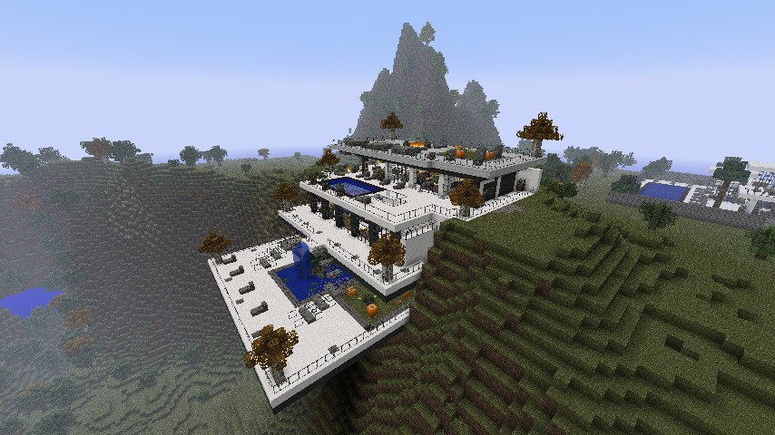 Modern cliffside villa minecraft project - Minecraft villa ...
