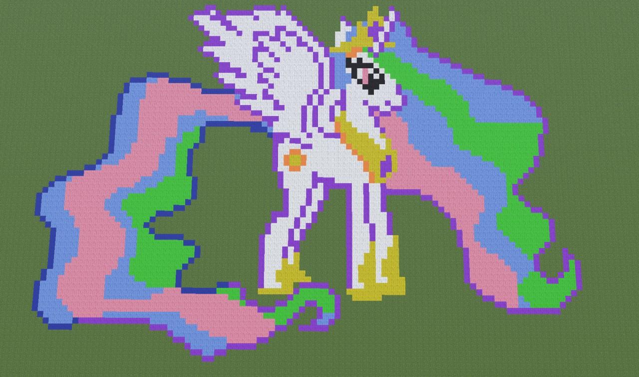 Princess Celestia Pixel Art Kaunas Minecraft Project