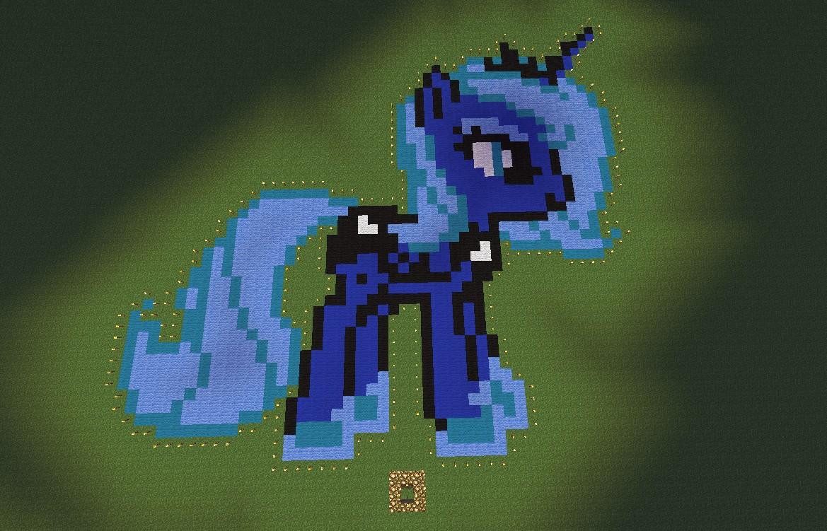 Princess Luna Pixel Art Kaunas Minecraft Project