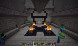 Temple of the Dead (puzzle map/ Zombie survival) Minecraft