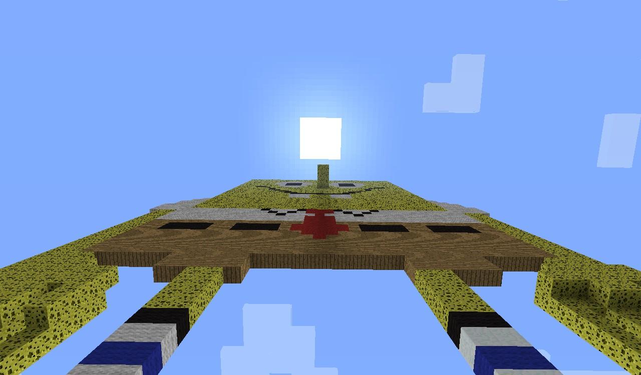 Spongebob Squarepants In Pixel Art Minecraft Project