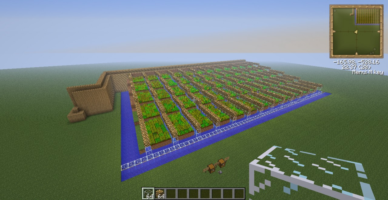 how to make a big wheat farm in minecraft