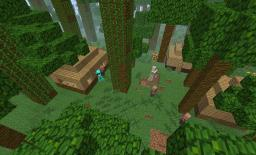 Jungle VS villagers Minecraft