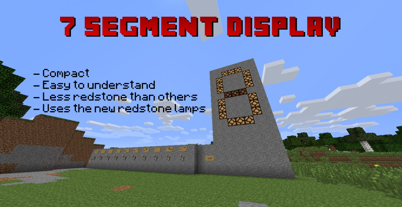 7 Segment Display Configurable Minecraft Project