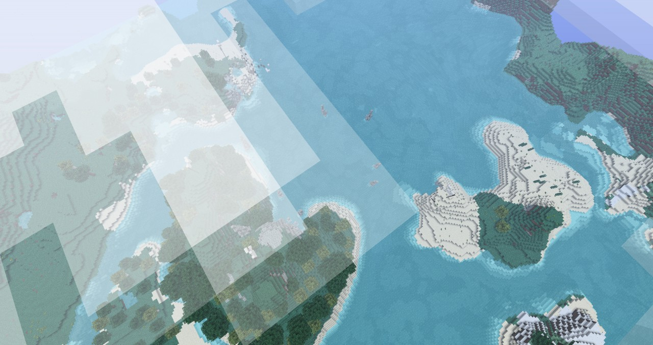 Top View of the 3 islands within the bay
