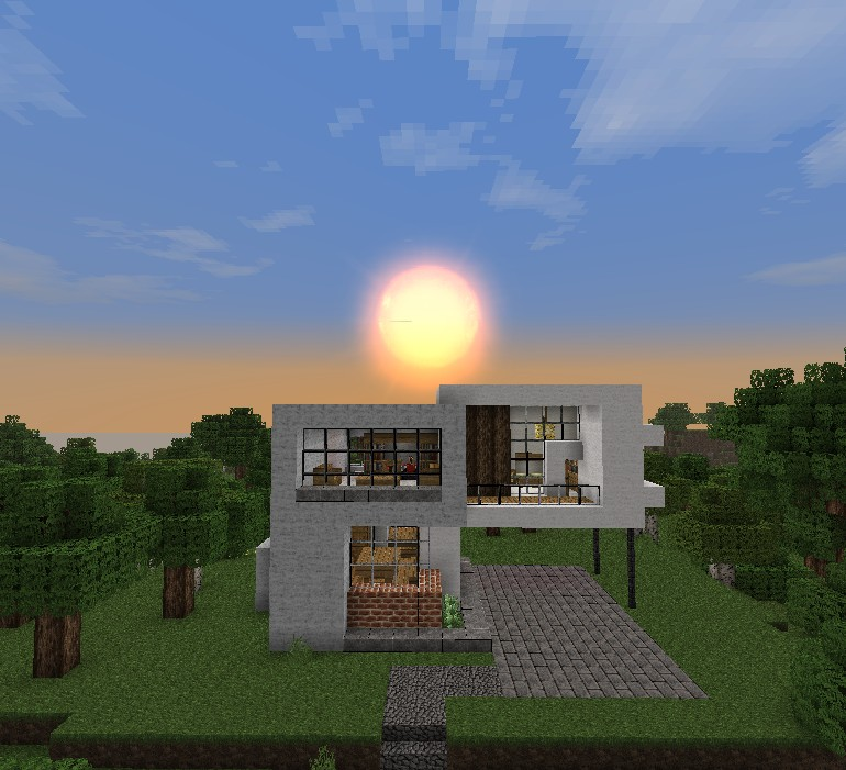 Simple modern house minecraft project for Simple modern house