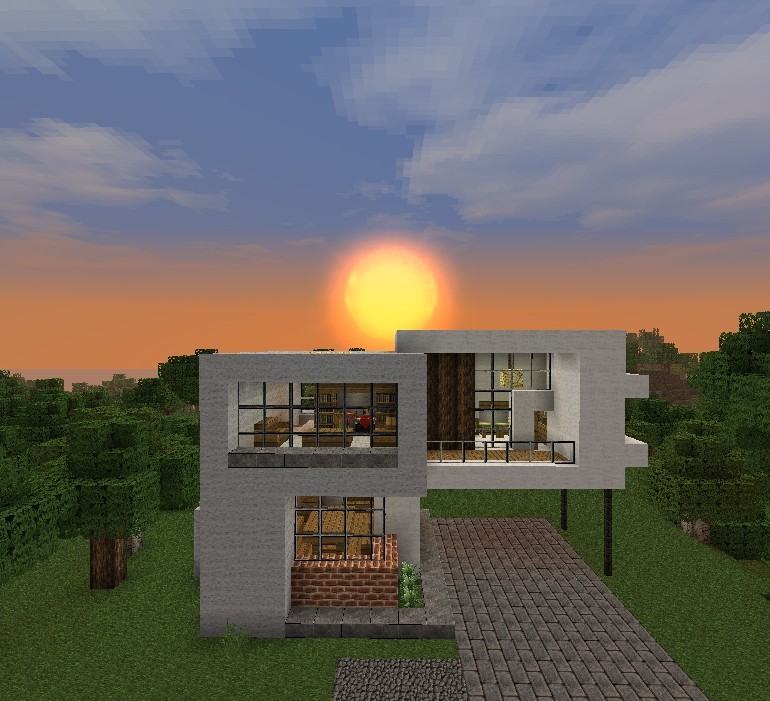 Simple modern house minecraft project for Minecraft modern house 9minecraft
