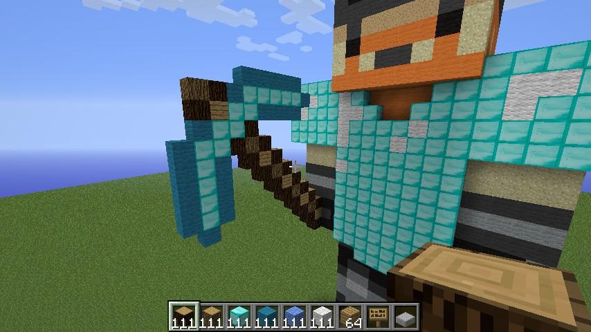 Minecraft Diamond Pickaxe And Sword Crossed Minecraft Sword And Pickaxe