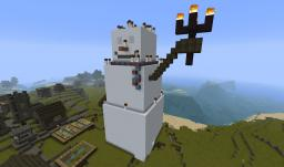 statue of snowman Minecraft Map & Project