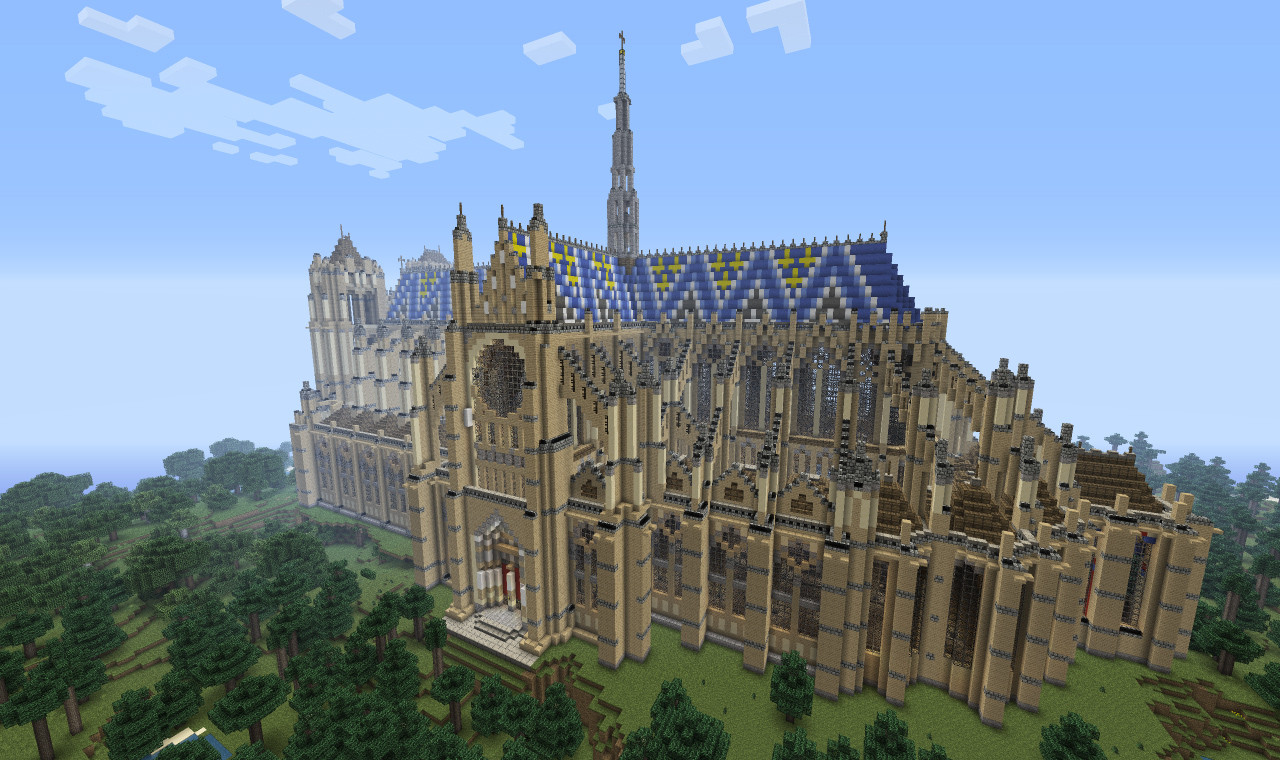 Cathedral Of Our Lady Of Amiens Minecraft Project