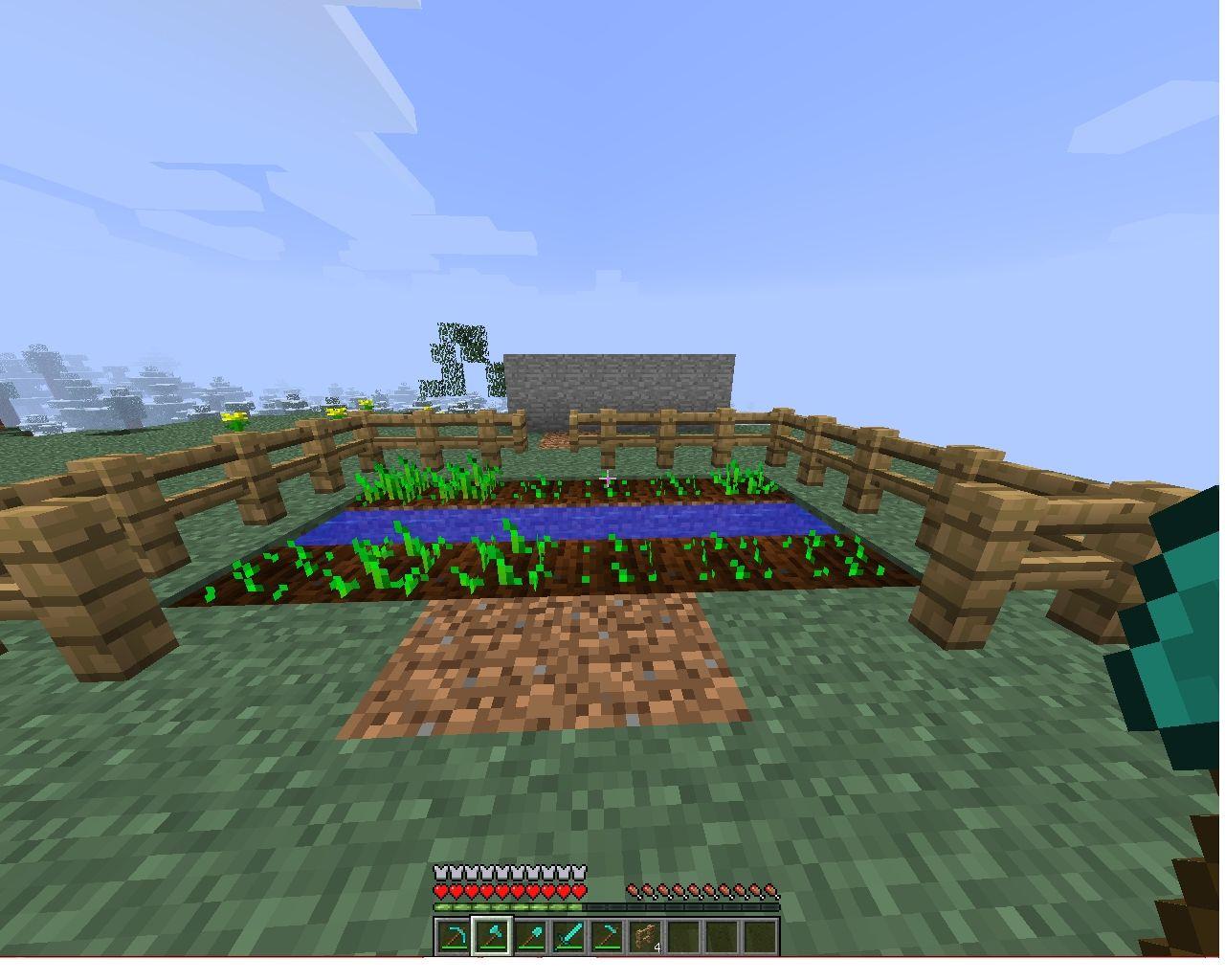 Automatic Harvesting Mini Farm Minecraft Project