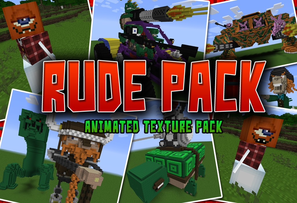 Be sure to come try my texture pack, as well the Rude Pack! Link is in the info.