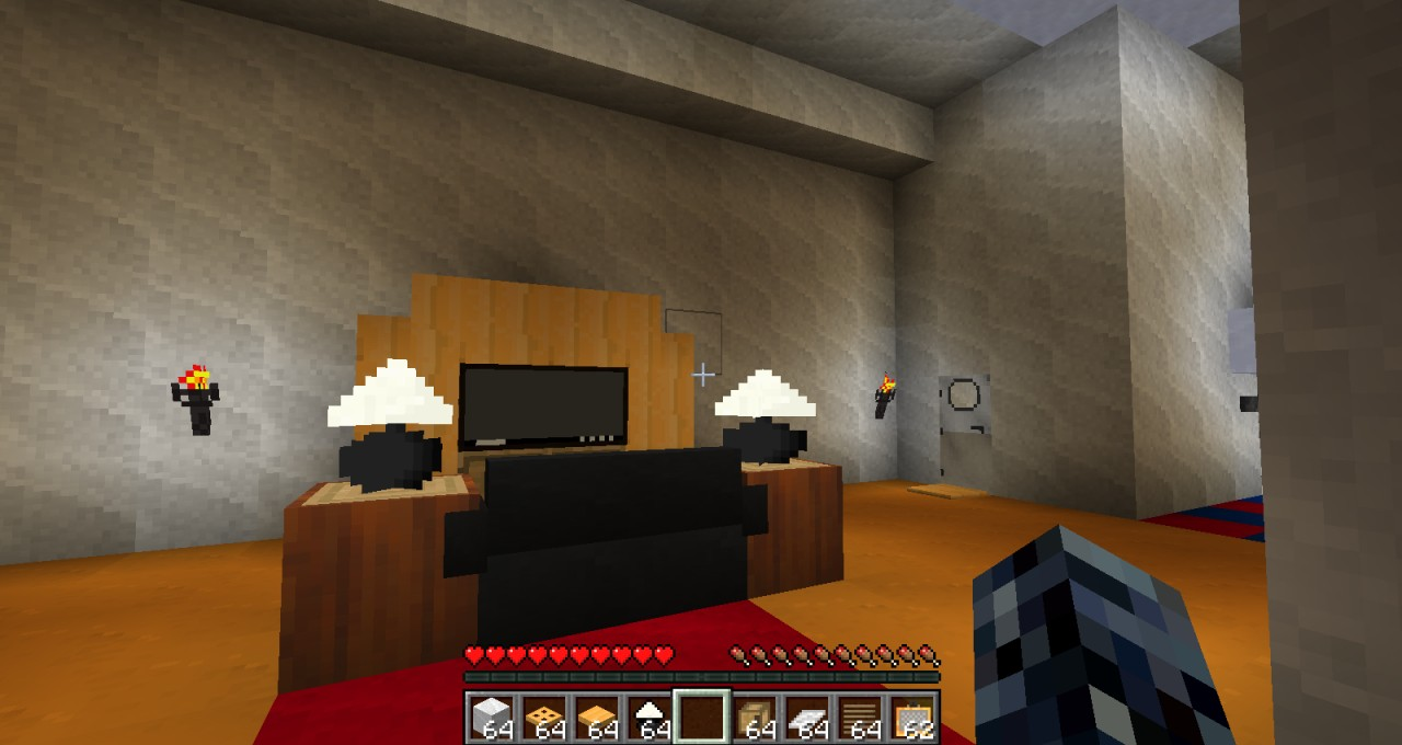 Modern Furniture Minecraft architectural ranch house( use's furniture mod) minecraft project