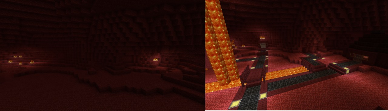 Alchemists cave before and after