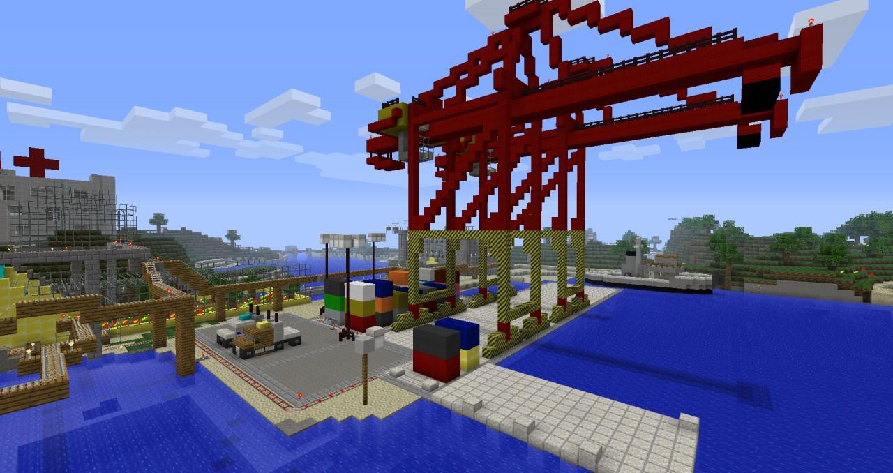 Cargo Dock Crane on Minecraft Wall Designs