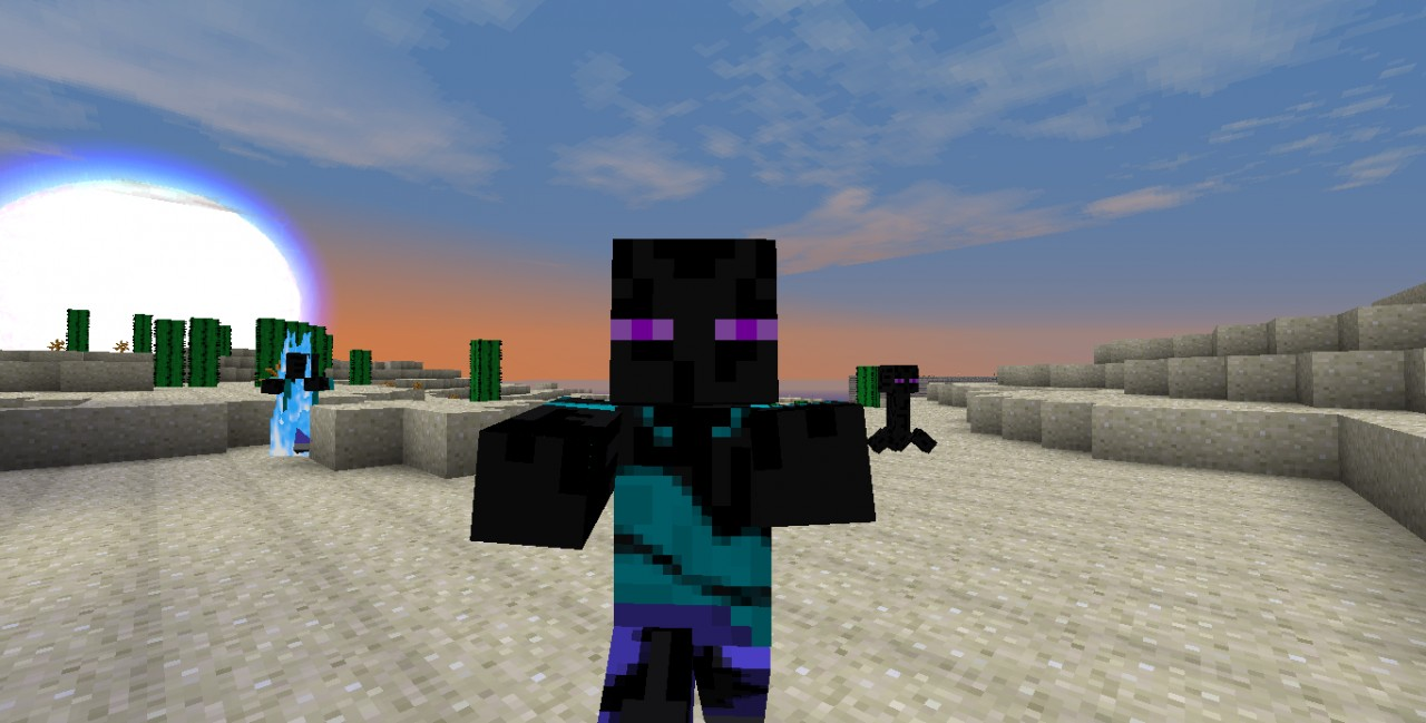one of the new ender people zombie guys. XD