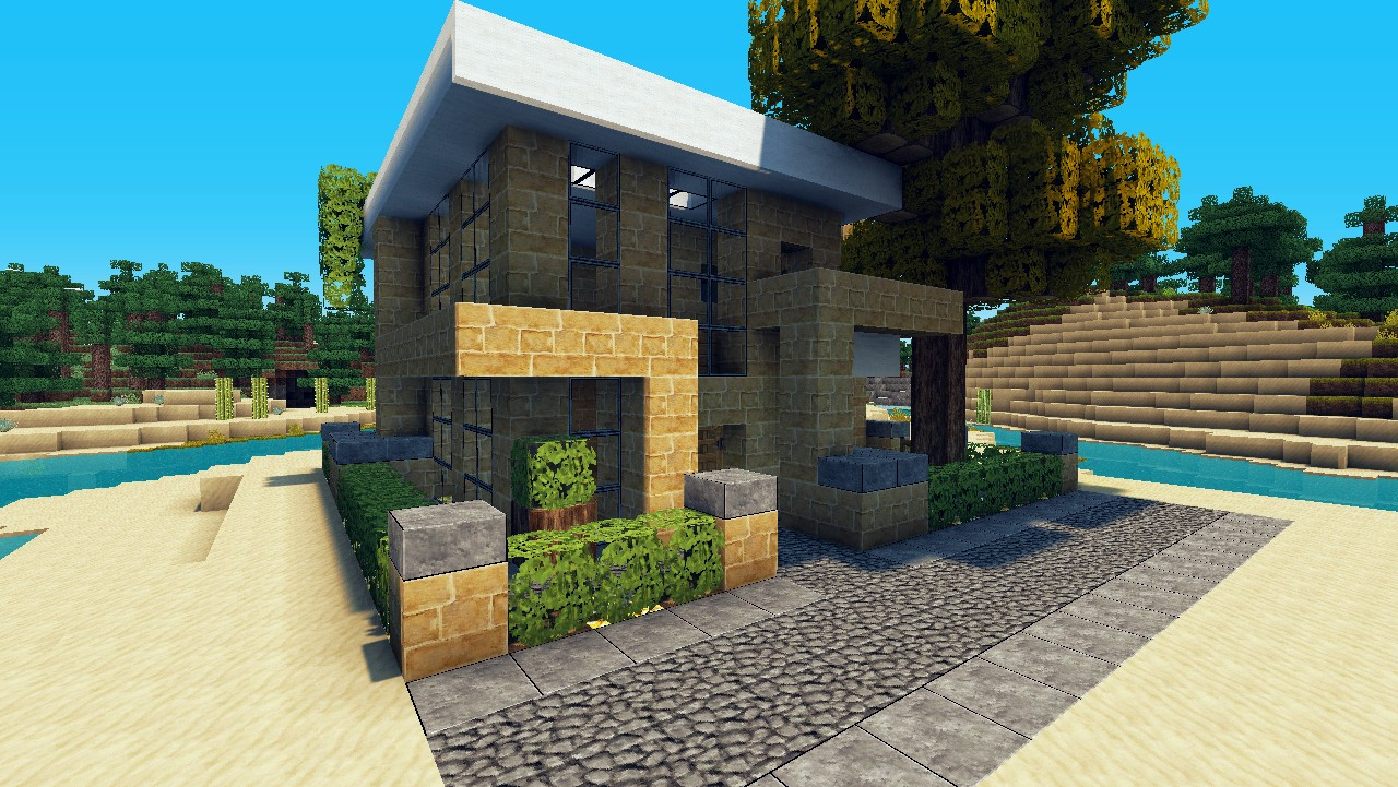 Minecraft keralis modern house memes for Small modern beach house
