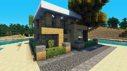 Small House Lets Build Lot Size 16x16 - Beach Town Project Minecraft Project
