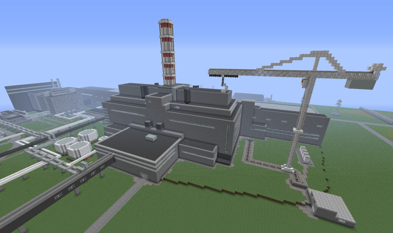 chernobyl nuclear power plant chnpp minecraft project rh planetminecraft com How Do Nuclear Power Plants Produce Electricity Nuclear Fission Power Plant