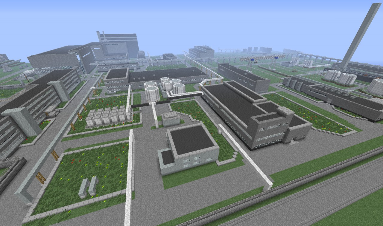 chernobyl nuclear power plant  chnpp  minecraft project