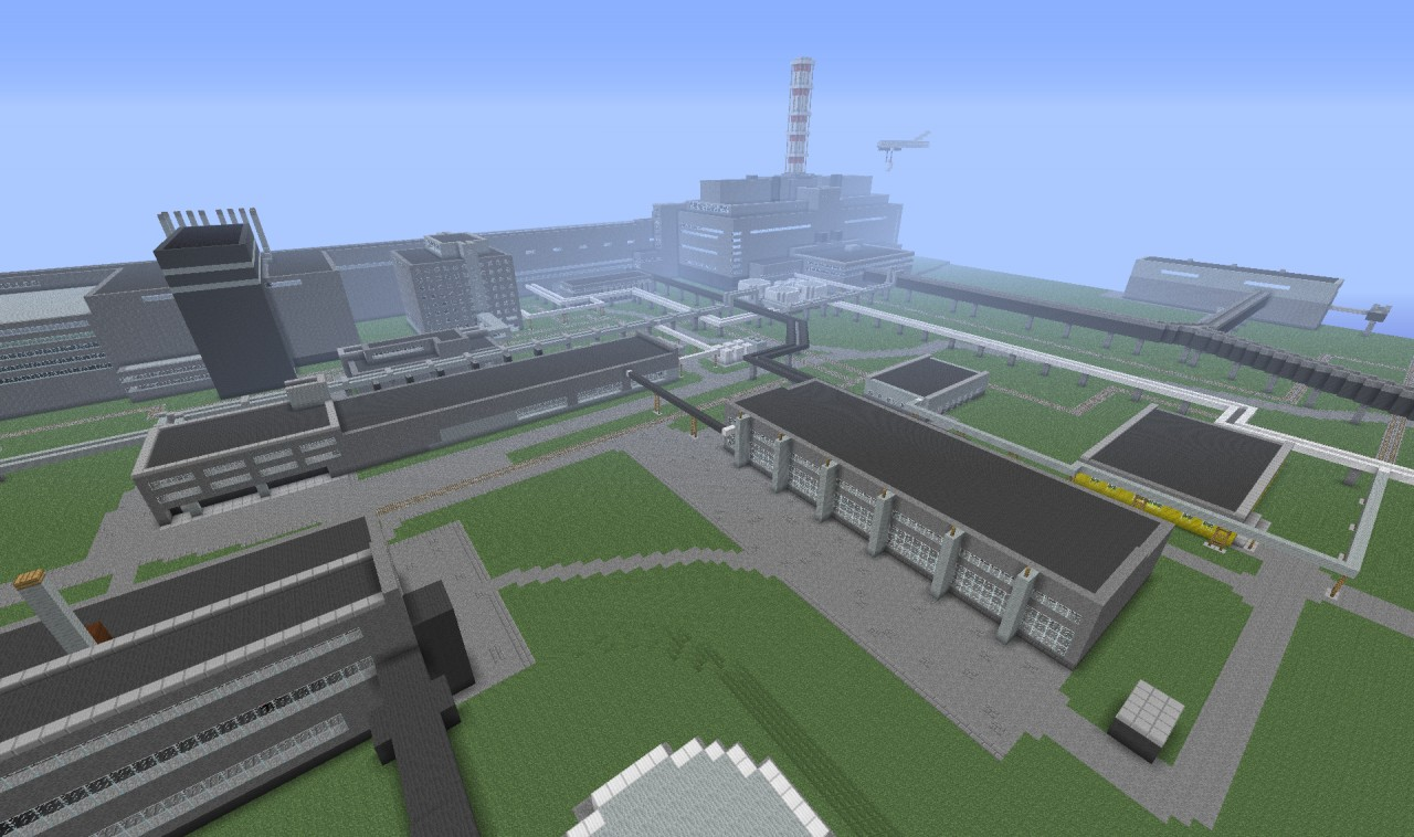 Chernobyl Nuclear Power Plant Chnpp Minecraft Project Schematic Photo Library Gallery Public Pmcview3d