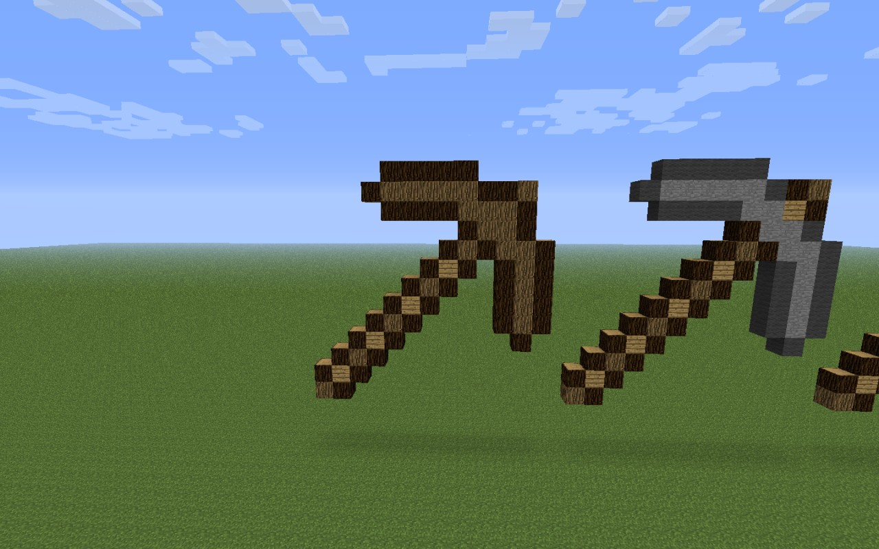 Craft The World Gold Pickaxe