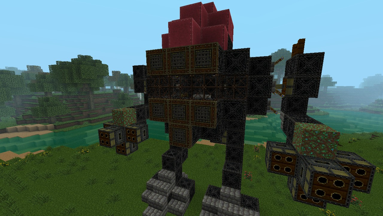 Iron golem steampunk walker minecraft project - Minecraft golem de diamant ...