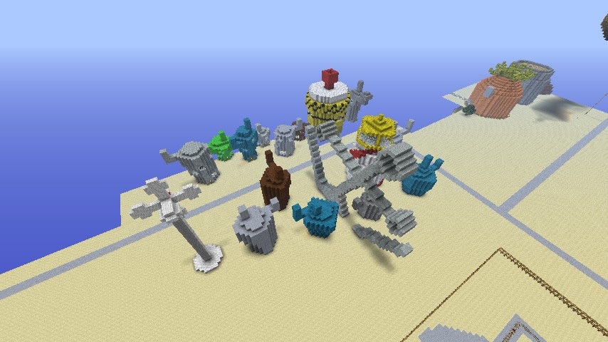 spongebob adventure map fixed minecraft project