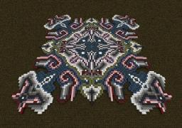 Pixelated Radiance of Curves Minecraft Map & Project
