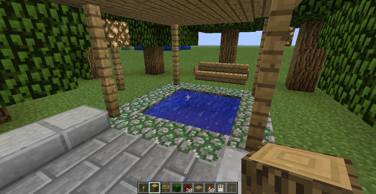 Sitting area near entrance...took design from Etho