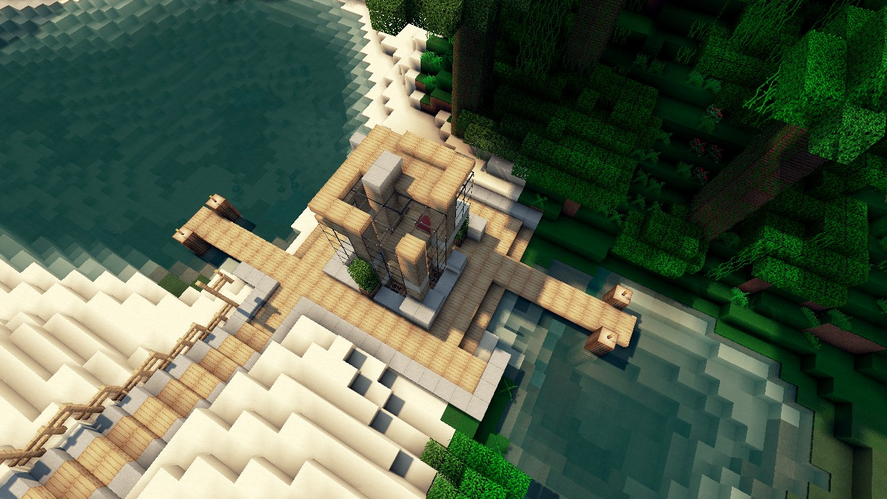 XS House Lets Build Lot Size 6x6 Beach Town Project Minecraft