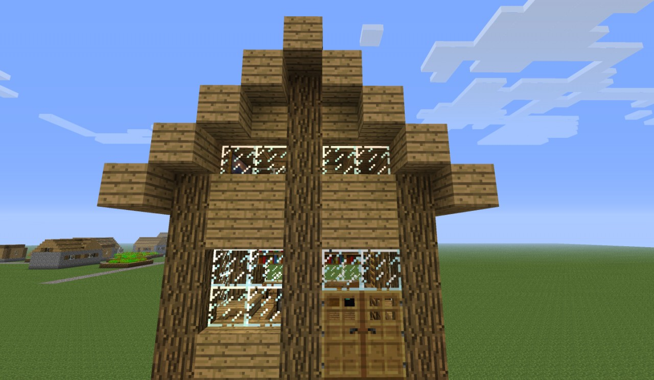 Minecraft simple small house minecraft project for Minimalist house minecraft